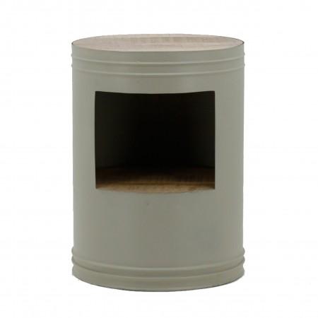 Side table barrel grey